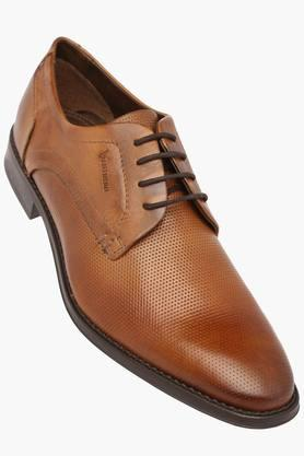 VENTURINI Mens Leather Lace Up Derby - 203381556_9126