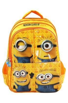 Unisex Minion Cartoon Print School Bag
