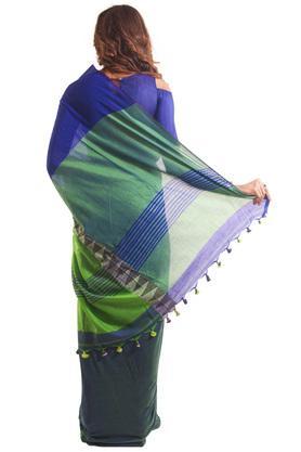 Women Mid Border Khadi Designer Saree
