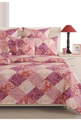 Magenta and Pink Floral Single AC Comfortor