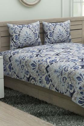 DREAMS Printed Single Bed Sheet With Pillow Cover