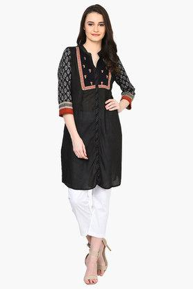 RANGRITI Womens Straight Cotton Indie Kurta - 203078153_9212