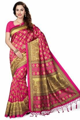 ISHINWomens Printed Bhagalpuri Art Silk Saree - 204036352_9552