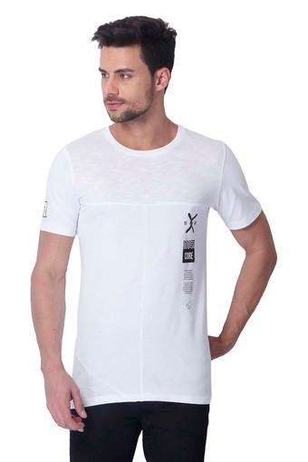 Mens Slim Fit Round Neck Solid T-Shirt