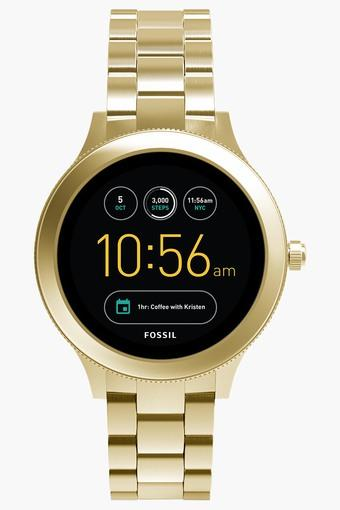 Q Venture Gold-Tone Stainless Steel Gen 3 Smart Watch FTW6006