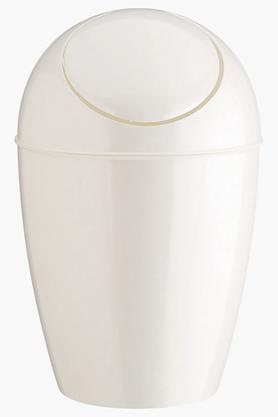 UMBRA Flip Top Sway Can Metallic White Solid Dustbin - 9L