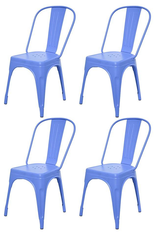 Blue Stylo Chairs Set of 4