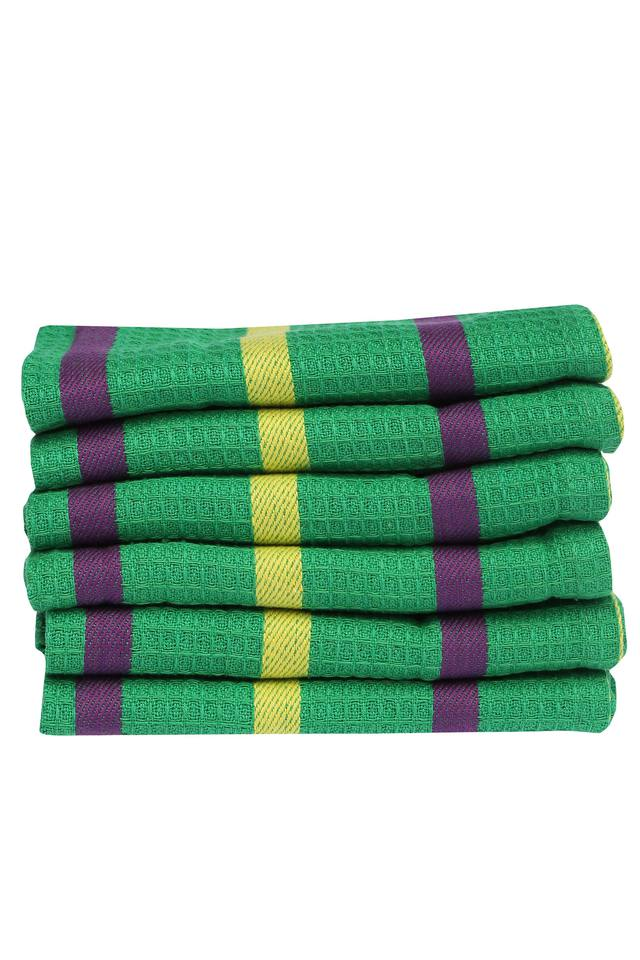 Cotton Checked Face Towel - Set of 6