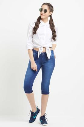 Womens Solid Casual Shirt