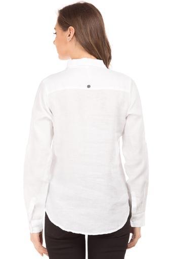 Womens Collared Slub Shirt