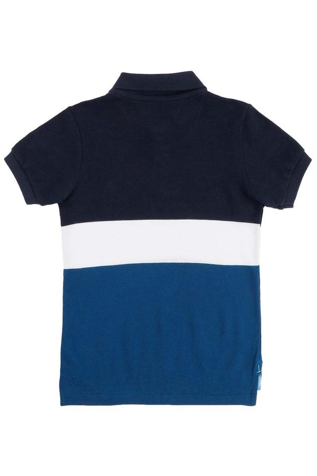 Boys Regular Fit Colour Block Polo Tee