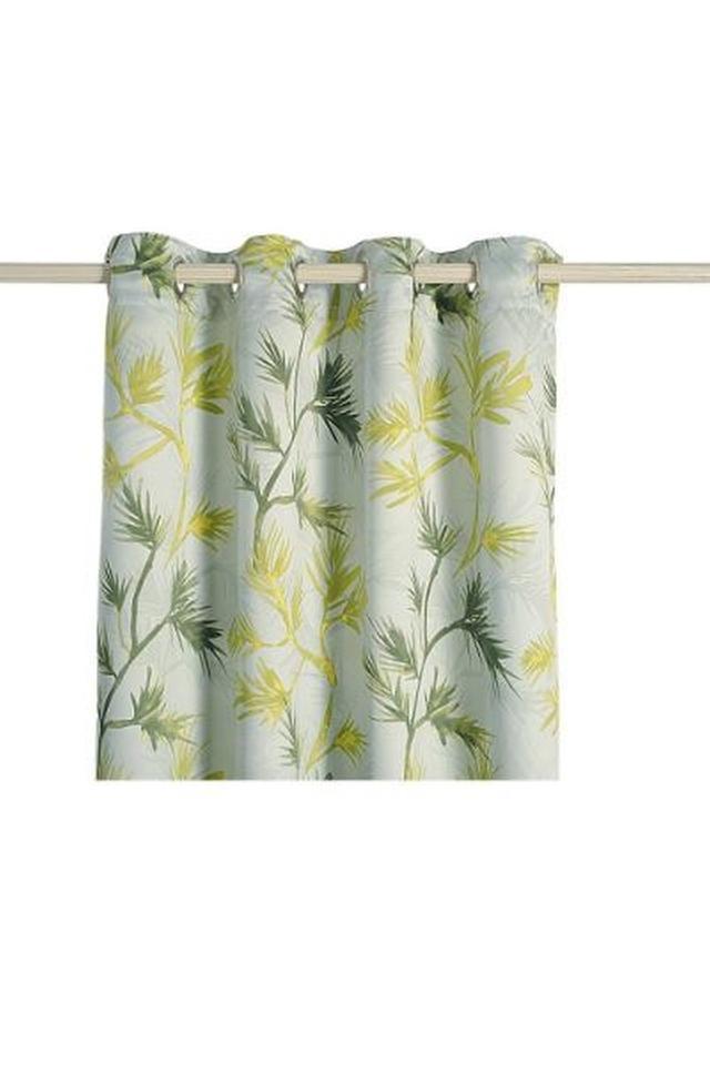 Leaf Printed Window Curtain