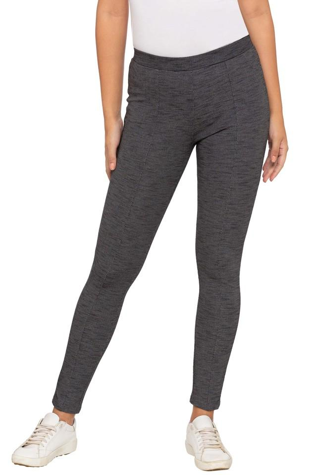 Womens Textured Jeggings