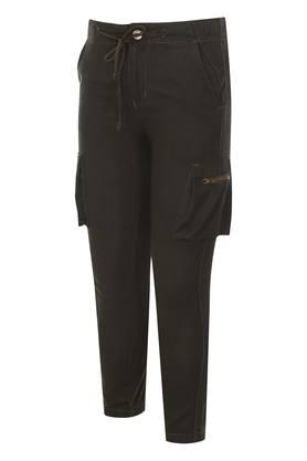 Boys 6 Pocket Solid Trouser