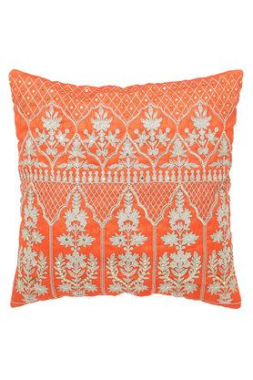 Square Zari Embroidered Cushion Cover