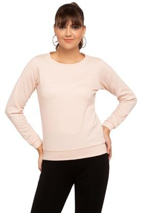 FRATINI WOMANWomens Round Neck Slub Sweatshirt
