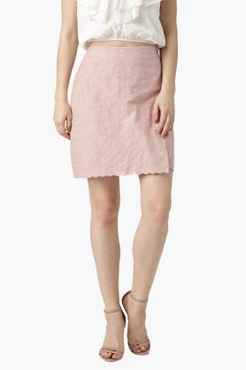 MARIE CLAIRE Womens Embroidered Mini Skirt - 203399242