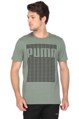 PUMAMens Round Neck Graphic Print T-Shirts