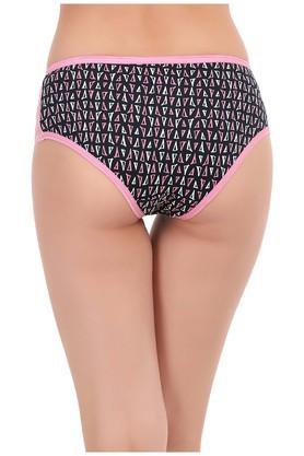 Womens Mid Waist Printed Boy Shorts