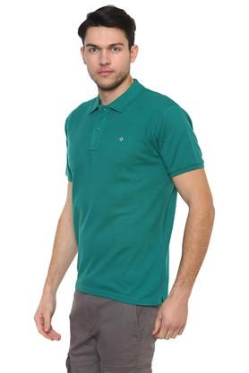 Mens Straight Fit Solid Polo T-Shirt