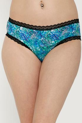 Womens Mid Rise Printed Hipster Briefs