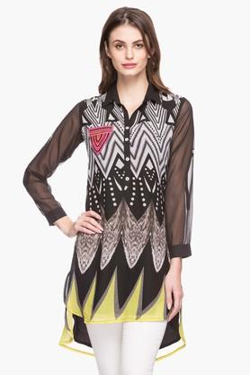 RS BY ROCKY STAR Womens Collared Printed Kurta