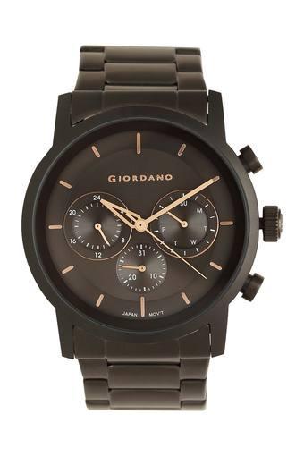 Mens Black Dial Metallic Multi-Function Watch - GD-1016-11