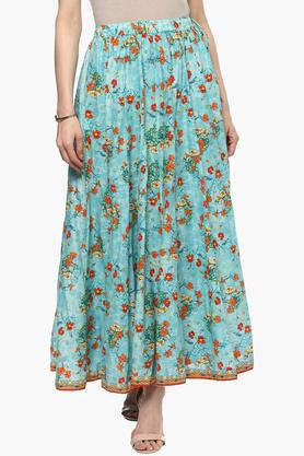 BIBA Womens Printed Long Skirt
