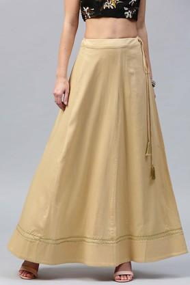 SASSAFRAS Womens Solid Long Skirt - 204059012_9111