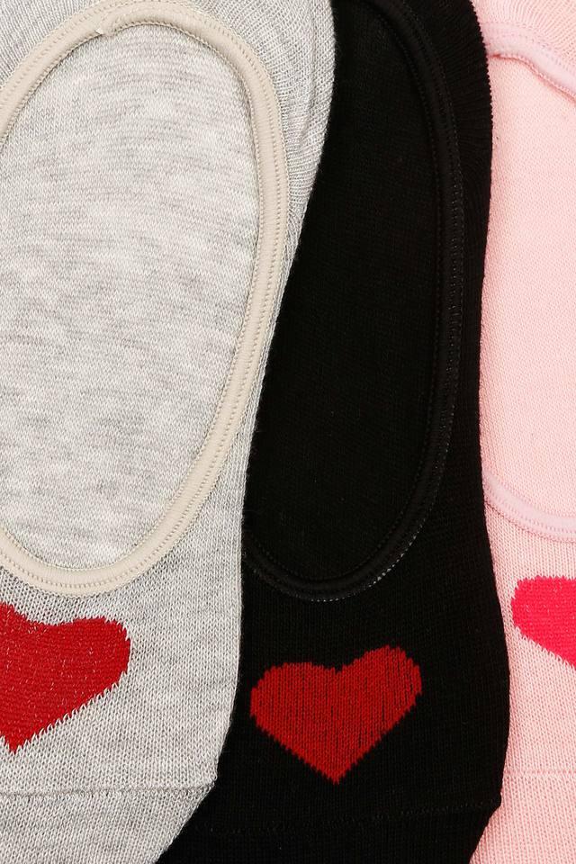 Womens Slub and Solid Socks Pack of 3