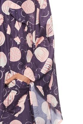 Women Printed Big Pocket Cape Shrug