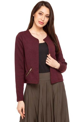Womens Solid Casual Jacket