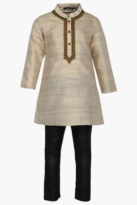 Boys Mandarin Neck Assorted Kurta and Pyjama Set