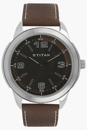TITANMens Octane Black Dial Analog Watch - NJ1585SL03C