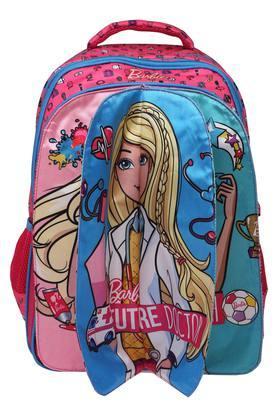 Girls Barbie Pink Flap School Bag