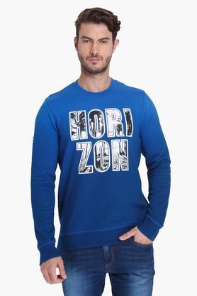 JACK AND JONESMens Full Sleeves Printed Sweatshirts