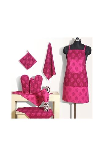 SWAYAM -  Pink Kitchen & Table Linen - Main