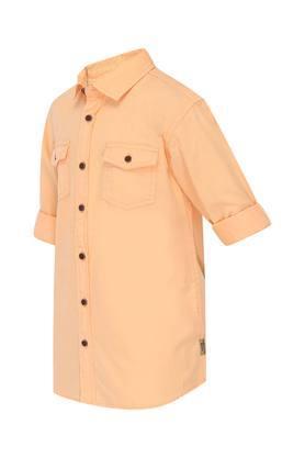 Boys 2 Pocket Solid Shirt