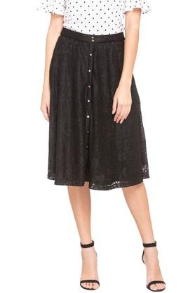ZINK LONDON Womens Lace Knee Length Skirt