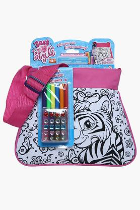 Girls Diy Purse Pink Tiger Giraffe Stationary Set