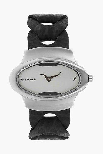 Womens Analogue Leather Watch - NJ6004SL01