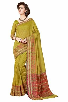 ASHIKA Designer Cotton Silk Saree With Blouse Piece - 204034690_9452