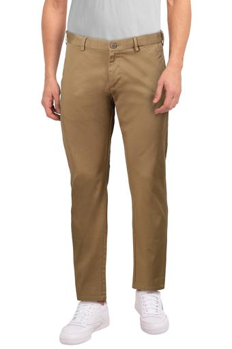 PETER ENGLAND -  Khaki Formal Trousers - Main