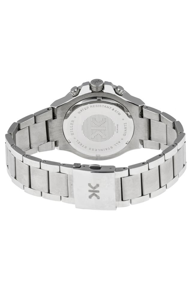 Mens Silver Dial Stainless Steel Multi-Function Watch - KLM104B