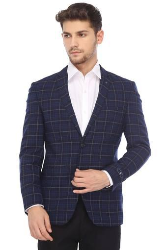 6b17b2edb Buy LOUIS PHILIPPE Mens Notched Lapel Checked Blazer