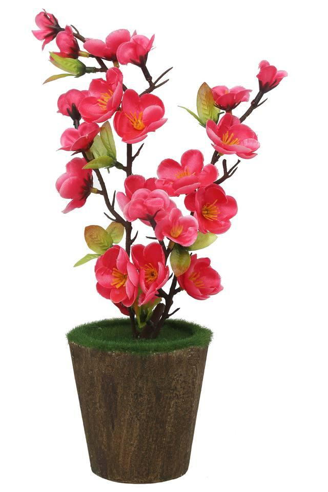 Plum Blossom Moss Potted Artificial Flowers