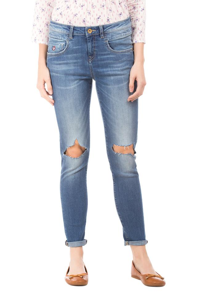 Womens Heavy Wash Jeans