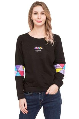 LIFE Womens Round Neck Solid Sweatshirt - 203634880