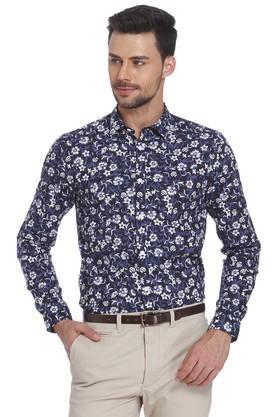 5c054d757b631 X JACK AND JONES Mens Slim Collar Printed Shirt