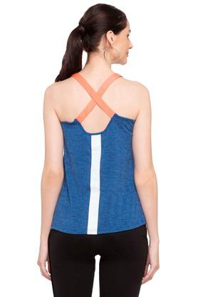 Womens Round Neck Textured Tank Top